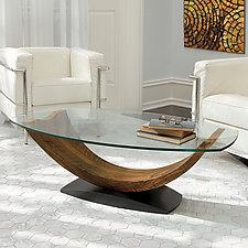 Arc Coffee Table by Enrico Konig (Wood Coffee Table)