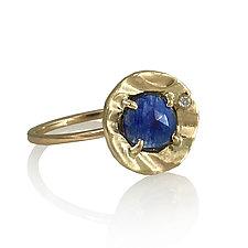 Petite Pebble Ring by Keiko Mita (Size 7-7.25 Gold & Stone Ring)