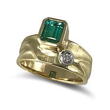 Geo Ring by Keiko Mita (Gold & Stone Ring)