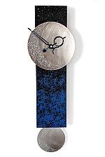 Narrow Moon Pendulum Clock by Leonie  Lacouette (Wood Clock)