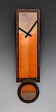 Ginger Pendulum Clock by Leonie  Lacouette (Metal Clock)