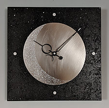Eclipse Wall Clock by Leonie  Lacouette (Wood Clock)