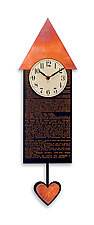 Love Pendulum Clock by Leonie  Lacouette (Wood Clock)