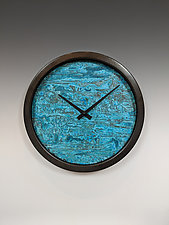 Verdigris Nate Wall Clock by Leonie  Lacouette (Metal Clock)