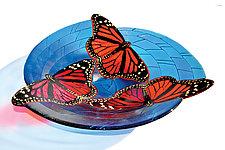 Monarch Butterfly Bowl by Mark Ditzler (Art Glass Bowl)