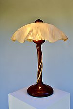 Double Tendril Table Lamp by Clark Renfort (Wood Table Lamp)