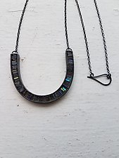 Carved U Shape Necklace by Heather Guidero (Silver & Stone Necklace)