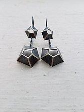 Double Eclipse Barnacle Earrings by Heather Guidero (Silver Earrings)