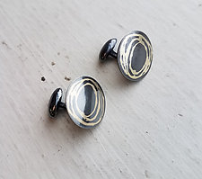 Circle Scribble Cuff Links by Heather Guidero (Gold & Silver Cuff Links)