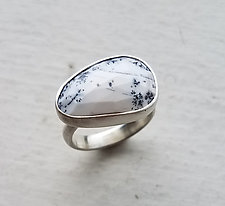 Dendritic Opal Ring by Heather Guidero (Silver & Stone Ring)
