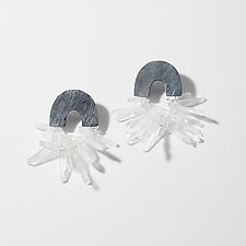 Carved Arch Quartz Earrings by Heather Guidero (Silver & Stone Earrings)