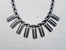 Eclipse Arch Tab Link Necklace by Heather Guidero (Silver Necklace)