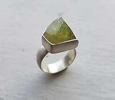 Green Garnet Ring by Heather Guidero (Silver & Stone Ring)