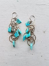 Long Tangle Earrings by Heather Guidero (Silver & Stone Earrings)