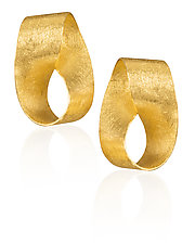 Mobius Strip Earrings by Petra Class (Gold Earrings)