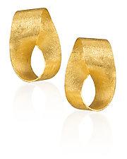 Mobius Strip Earrings by Petra Class (Gold Earrings)
