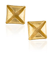 Gold Box Earrings by Petra Class (Gold Earrings)