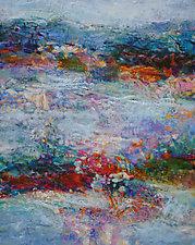 Mountain Blue II by Lori Austill (Encaustic Painting)