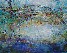 Sparkle Bridge IV by Lori Austill (Encaustic Painting)