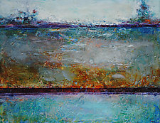 Silver Bay by Lori Austill (Encaustic Painting)