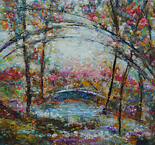 Sparkle Bridge by Lori Austill (Oil Painting)
