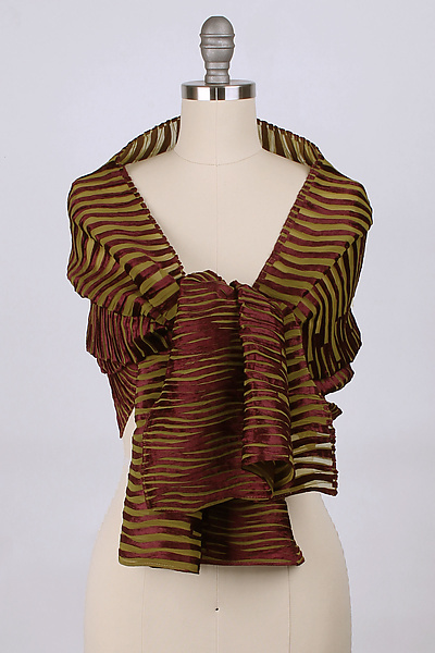 Velvet Accordion Drape Pleats Scarf