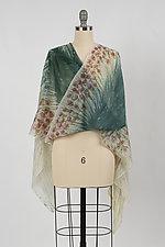 Flower Fields Wool Cashmere Scarf by Yuh Okano (Wool Scarf)