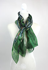 Mini Botanical Organza Scarf by Yuh Okano (Silk Scarf)