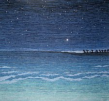 Night Sea by Sherry Schreiber (Fiber Wall Hanging)