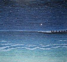 Night Sea by Sherry Schreiber (Fiber Wall Hanging)