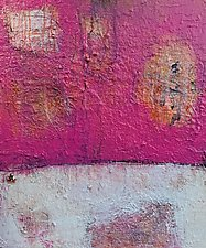 Pink Abstract Landscape by Amy Longcope (Acrylic Painting)