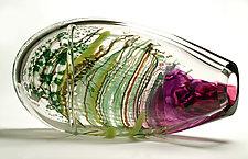 Purple Maglione by Randi Solin (Art Glass Sculpture)