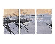 Stillness III Triptych by Sharron Parker (Fiber Wall Hanging)