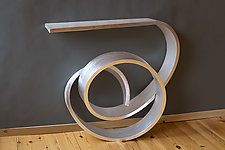 Metallic Nebula Table by Kino Guerin (Wood Console Table)