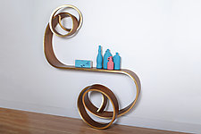 Double Nebula Table by Kino Guerin (Wood Console Table)