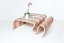 Extra Large Crazy Carpet Table by Kino Guerin (Wood Coffee Table)