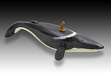 Whale: Finback/Dreaming by Dona Dalton (Wood Sculpture)
