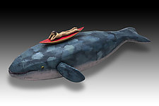 Whale: Gray/Dreaming by Dona Dalton (Wood Sculpture)