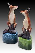 Daydreamers by Dona Dalton (Wood Sculpture)