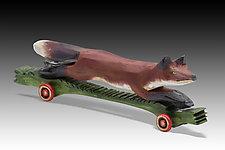 Fleet Fox by Dona Dalton (Wood Sculpture)
