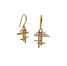 Brise Soleil Earring in 18k Gold by Hilary Hachey (Gold Earrings)