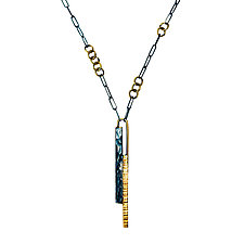 Hammerstick Necklace by Hilary Hachey (Gold & Silver Necklace)