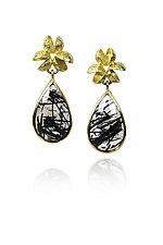 Flourishing Earrings by Liaung Chung Yen (Gold & Stone Earrings)
