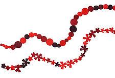 Red Necklace by Danielle Gori-Montanelli (Felt Necklace)