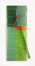 Morning Dew Art Glass Pendulum Clock by Nina  Cambron (Art Glass Clock)