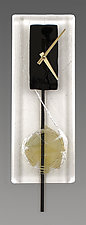 Minimalist Art Glass Pendulum Clock by Nina  Cambron (Art Glass Clock)