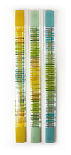 Summer Breeze Wall Sculpture Trio by Nina  Cambron (Art Glass Wall Sculpture)
