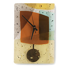 Morocco Pendulum Clock by Nina  Cambron (Art Glass Clock)