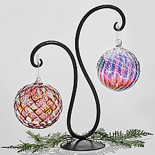 Double Scroll Ornament Stand by Steven Bronstein (Metal Ornament Stand)