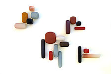 Geometric Series by Christopher Jeffries (Art Glass Wall Sculpture)